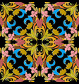 baroque colorful seamless pattern ornate bright vector image vector image