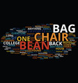 bean bag chairs for kids text background word vector image vector image