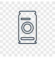 beer can concept linear icon isolated on vector image vector image