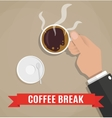 break for a cup coffee vector image