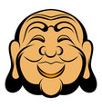 buddha head icon cartoon vector image