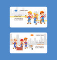 builder business card constructor people vector image