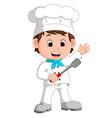 cartoon funny chef vector image vector image