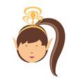 cartoon princess icon image vector image vector image