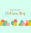 childrens day greeting card background style vector image vector image