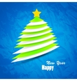 Christmas tree background minimal and trendy vector image vector image