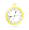 clock gold vector image