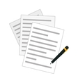 contract and pen icon image vector image
