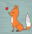 cute fox adorable cartoon vector image
