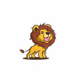 cute yellow lion vector image
