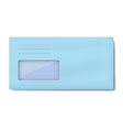 DL light blue envelope with window for address vector image vector image