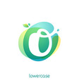 ecology lowercase letter o logo overlapping vector image vector image
