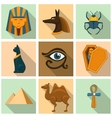 Egypt icon set vector image vector image