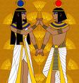 Egyptian Couple vector image vector image