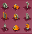 engineering color isometric icons vector image