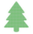 fir-tree halftone icon vector image
