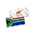 flags cyprus and republic south africa on a vector image vector image