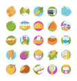 food colored icons 2 vector image vector image