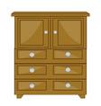 furniture wooden closet vector image vector image