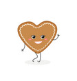 gingerbread cookie-heart vector image