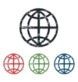 Globe grunge icon set vector image