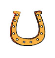 golden horseshoe design vector image