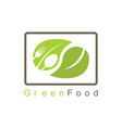 green food logo vector image vector image
