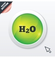 H2O Water formula sign icon Chemistry symbol vector image vector image