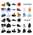 hacker and hacking cartoon icons in set collection vector image vector image