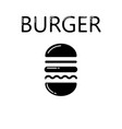 hamburger icon isolated on white background vector image vector image