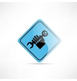 Hand repair blue sign icon vector image