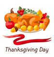 happy thanksgiving day background vector image vector image