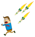 Homing missle attack vector image vector image