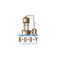 hooch still buoy distillery concept design vector image