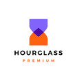 hourglass overlapping overlay color logo icon vector image