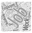 How To Quit A Job text background wordcloud vector image vector image