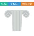 Icon of antique column vector image