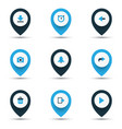 interface icons colored set with exit stopwatch vector image