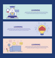 learning education concept vector image vector image