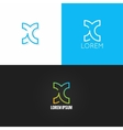 letter X logo alphabet design icon set background vector image