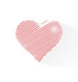 line heart shape for celebrations vector image