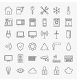 Line Smart Home Icons Big Set vector image vector image