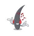 listening music hair mascot cartoon style vector image