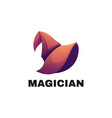 logo magician gradient colorful style vector image