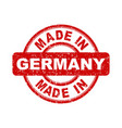 made in germany red stamp on white background vector image vector image