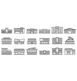 mall centre icons set outline style vector image vector image