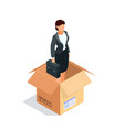 manager in a box isolated vector image vector image
