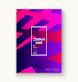 minimal cover set design neon halftone pink blue vector image