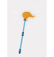 mop icon on white vector image vector image