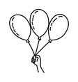 new year balloons icon doodle hand drawn or vector image vector image